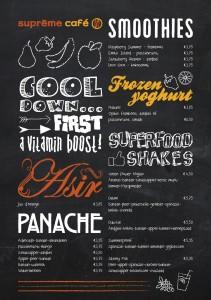 Voorkant - Sapjes kaart Suprême Café