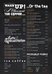Achterkant - Sapjes kaart Suprême Café