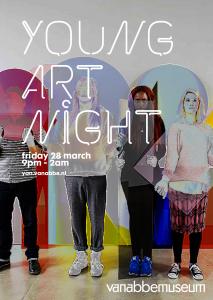 Young Art Night Flyer voor